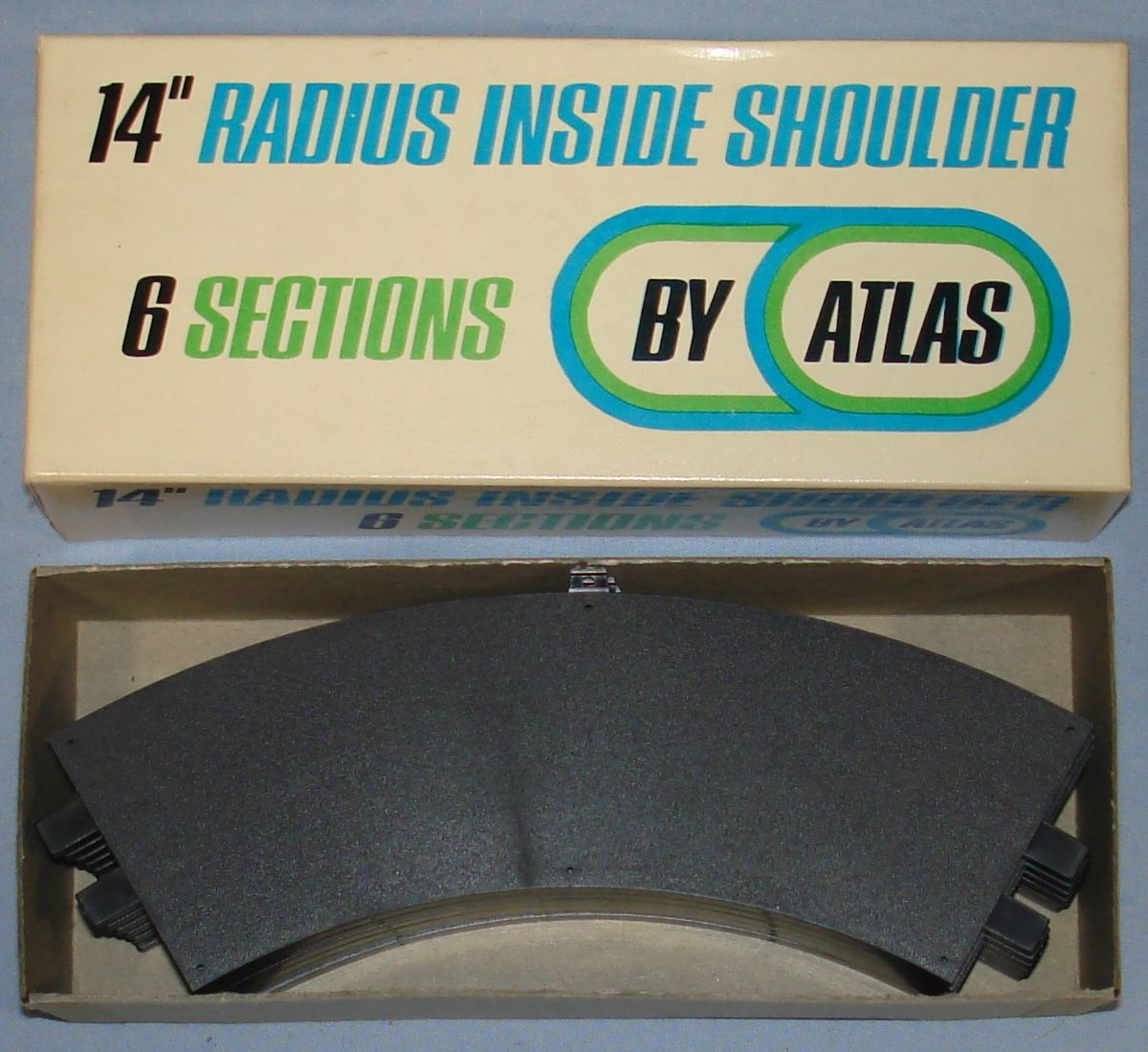 Atlas 124 132 Slot Car Racing Track 14 Inch Radius Inside Shoulders #1595-240