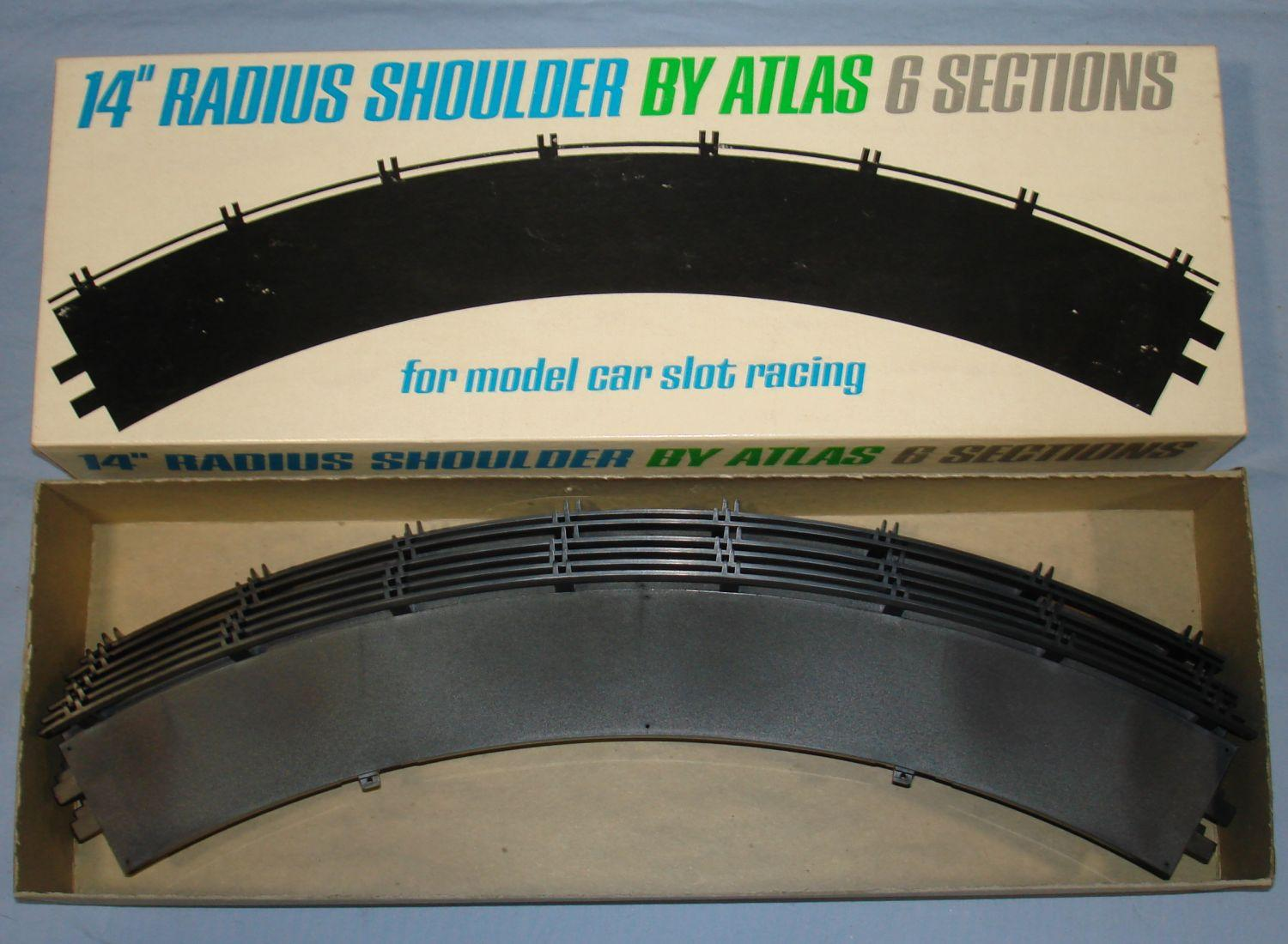 Atlas 124 132 Slot Car Racing Track 14 Inch Radius Shoulders #1598-300