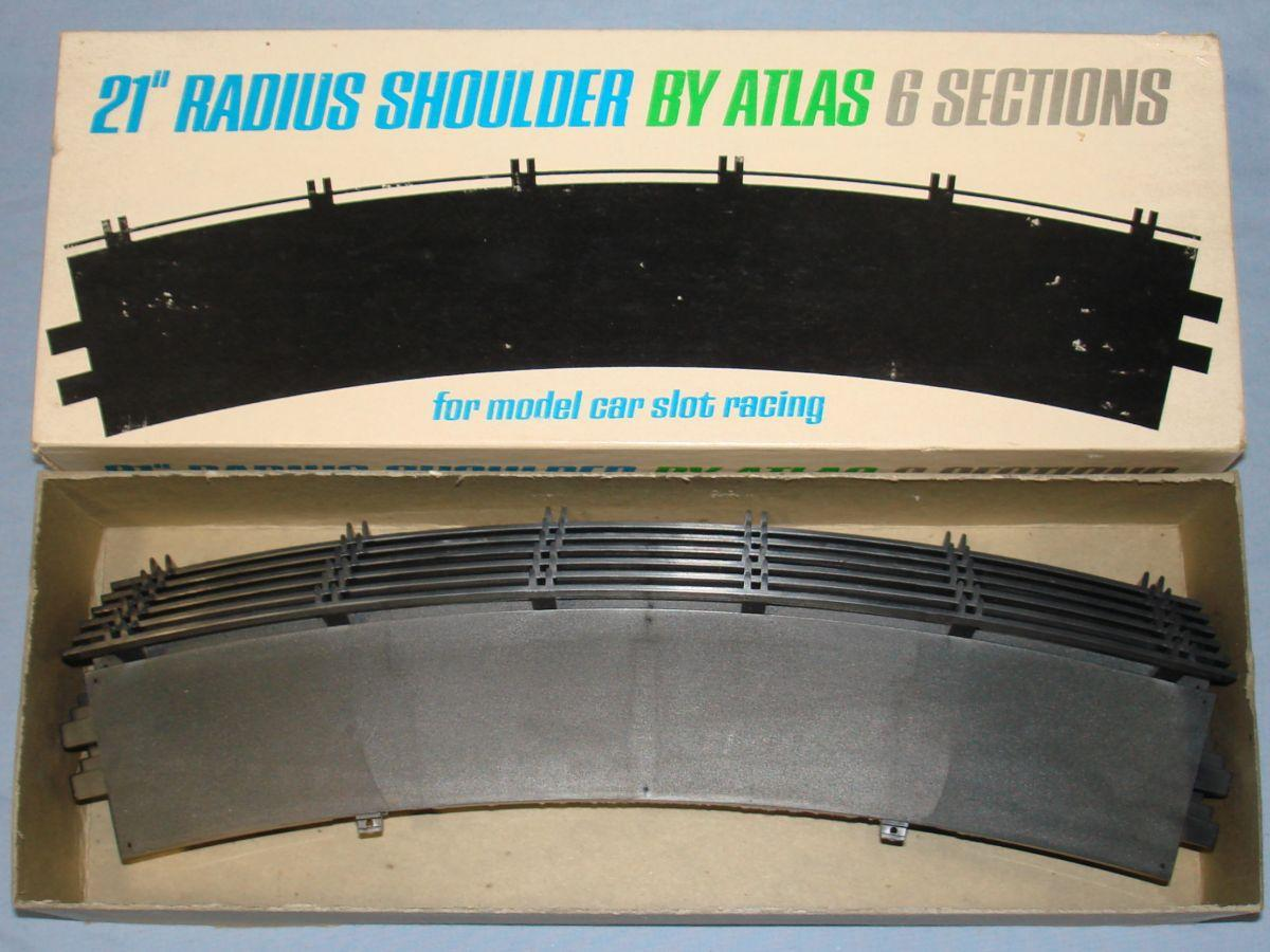 Atlas 124 132 Slot Car Racing Track 21 Inch Radius Shoulders #1599-300
