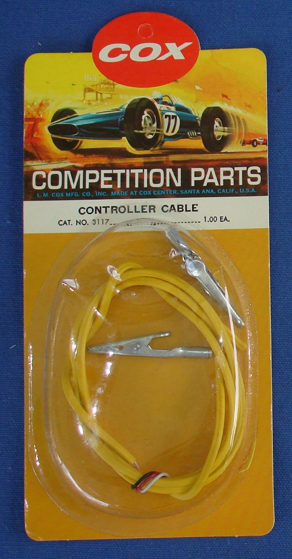 Cox 1:24 1:32 Electric Road Racing SlotCar Competition Controller Cable
