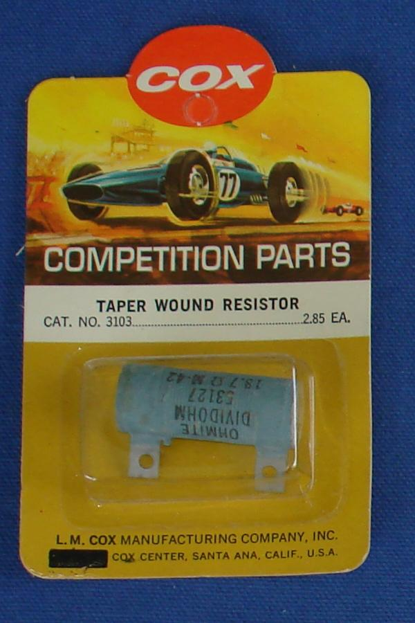 Cox 1:24 Electric Road Racing Slot Car Competition Taper Wound 13.7 Ohm Resistor