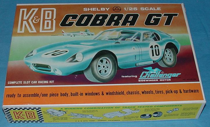 KB 1:25 Scale Ford Shelby Cobra GT Slot Car Racing Body Model Kit #1801 Box