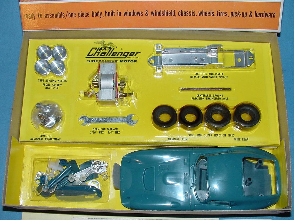 KB 1:25 Scale Ford Shelby Cobra GT Slot Car Racing Body Model Kit #1801 Contents