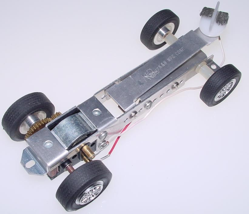 K&B 125 Scale Ford GT White Slot Car Racing Body Kit Challenger Sidewinder Chassis Motor Braided Pickups