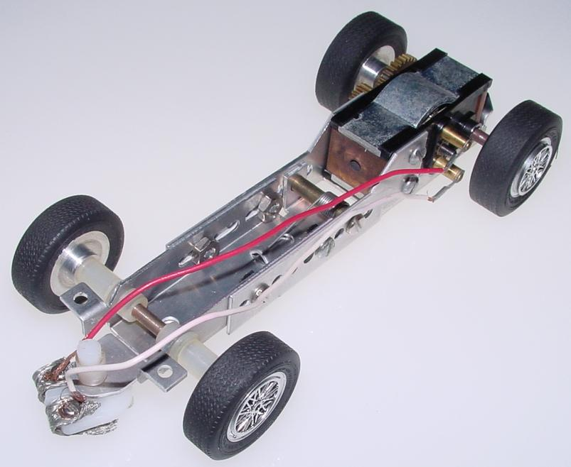 K&B 125 Scale Ford GT White Slot Car Racing Body Kit Challenger Sidewinder Chassis Motor
