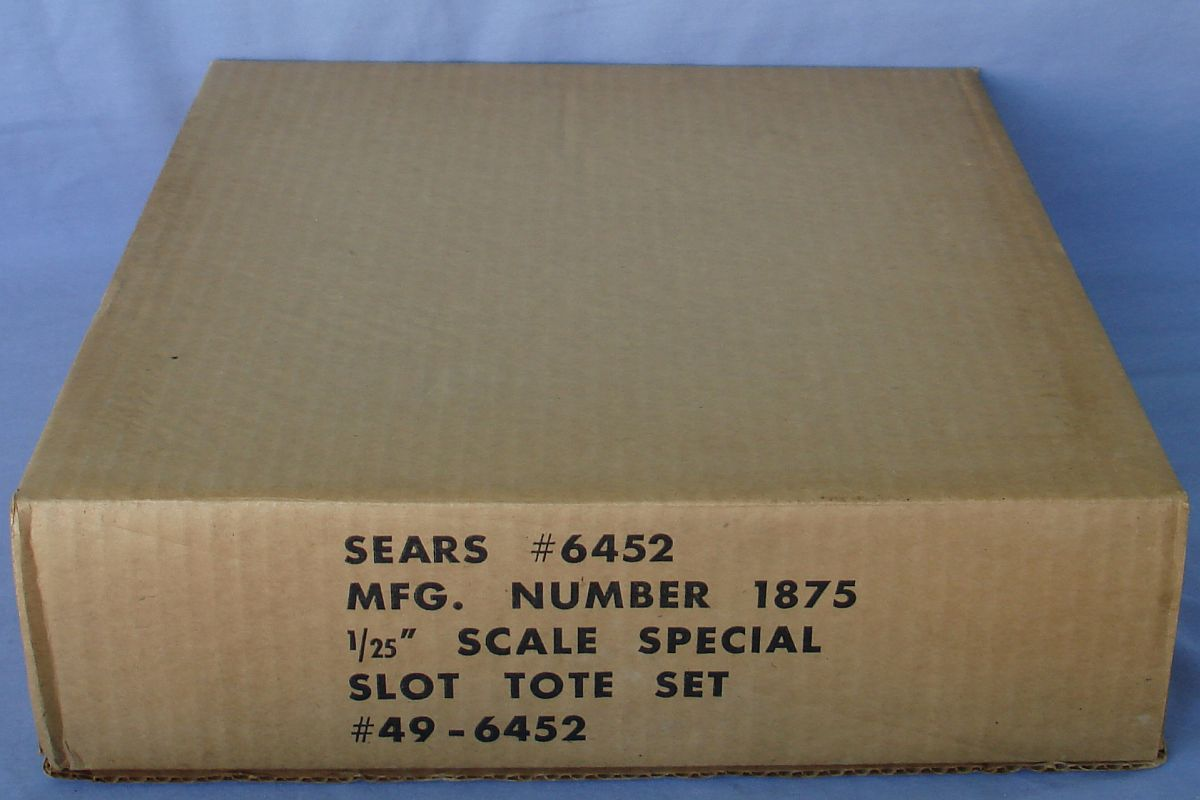 Sears K&B 1:25 Scale Slot Car Racing Challenger Body Kit Cardboard Sleeve