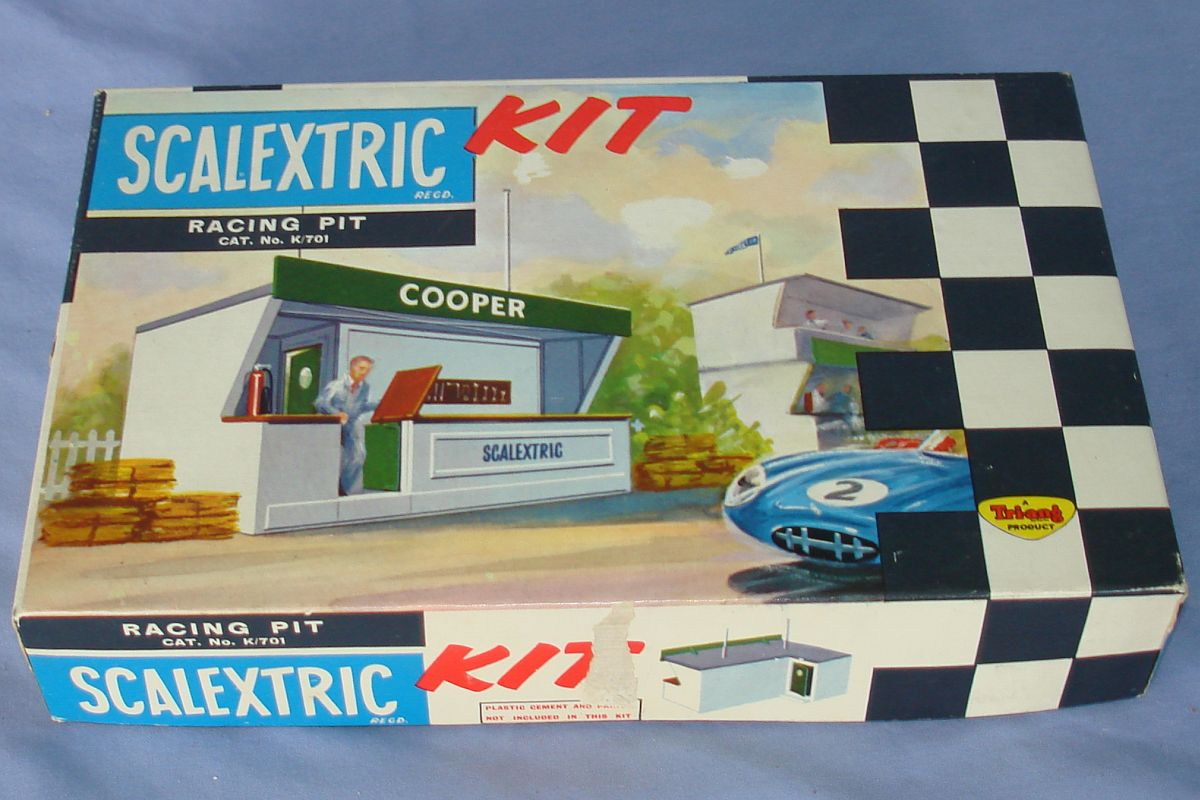 Scalextric Triang 1:32 Scale Slot Car Racing Pit Building Kit K/701 Box