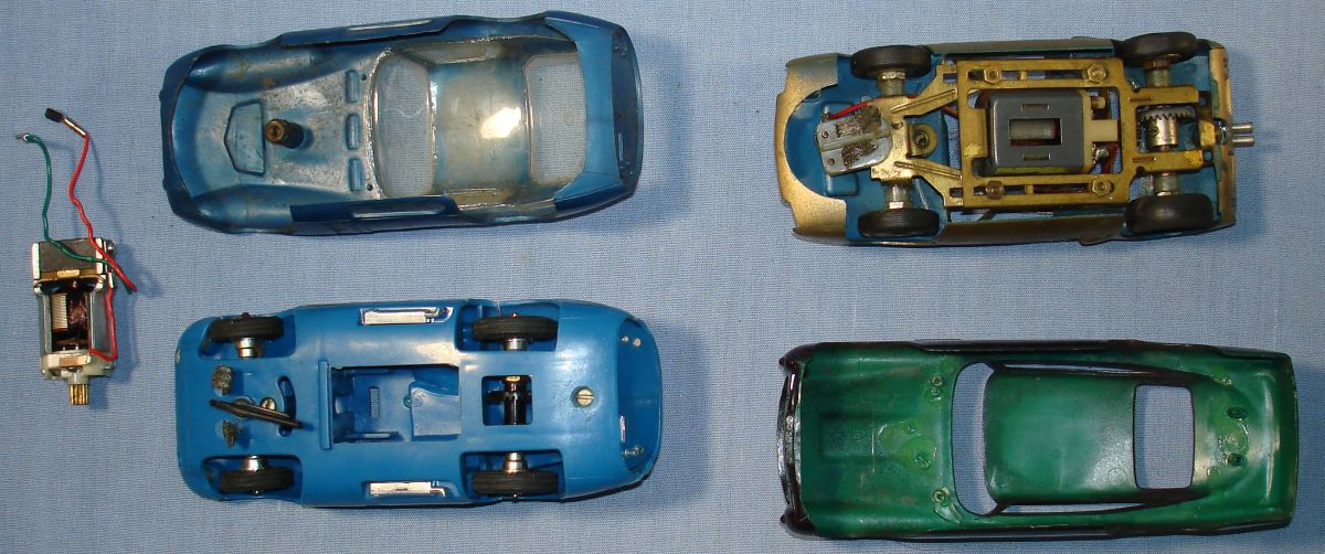 Vintage 1:32 Scale Slot Car Racing Bodies Chassis Posts