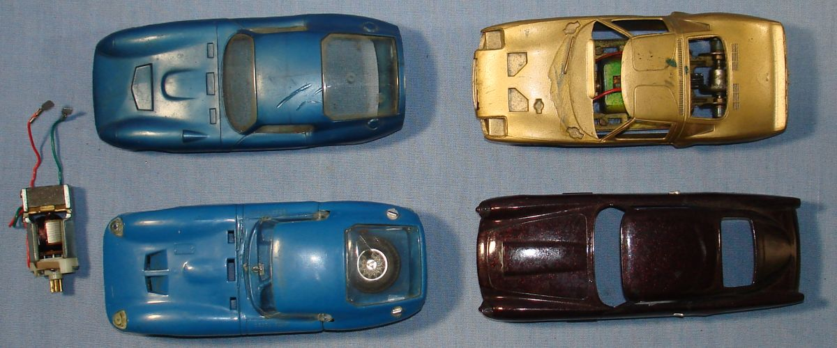 Vintage 1:32 Scale Slot Car Racing Bodies Hoods Roofs