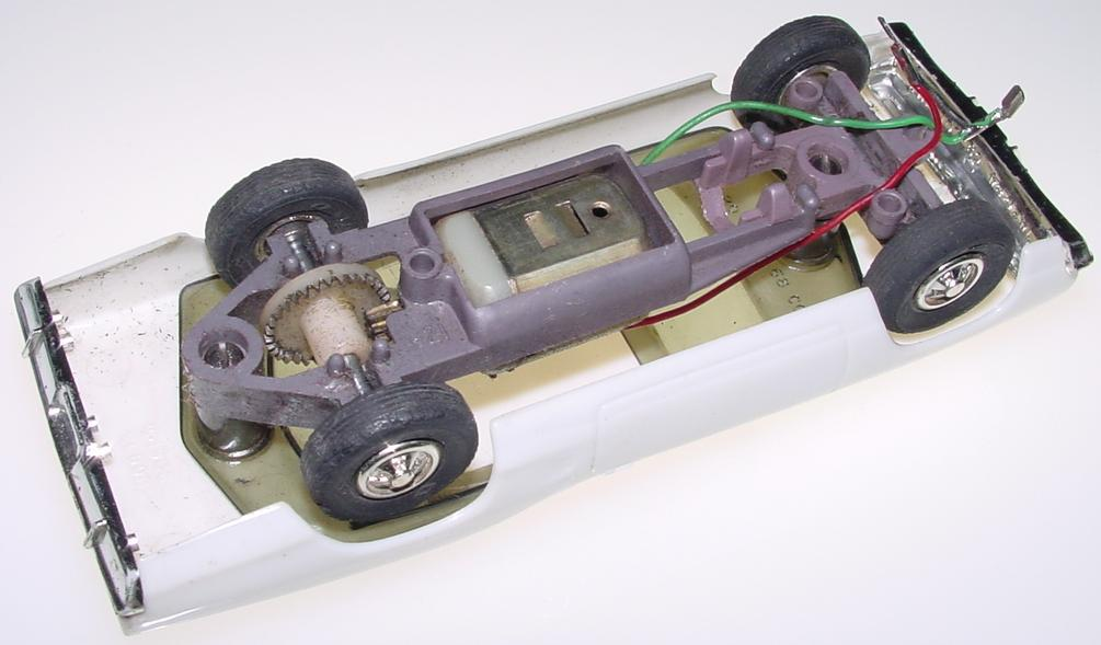 Eldon 132 Scale Dodge Coronet Slot Car Runner Chassis