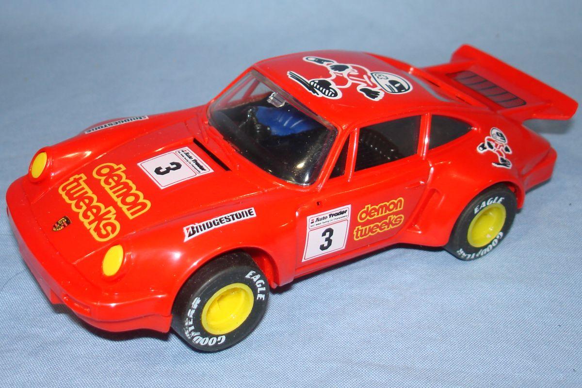 Scalextric Slot Car Racing Red Porsche 911 C394 Hood Roof