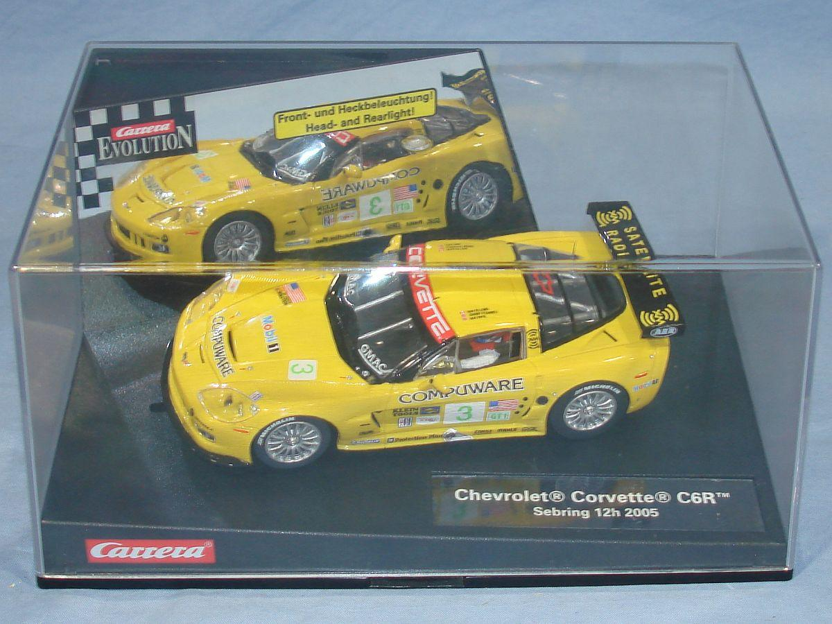 Carrera Evolution Yellow Chevrolet Corvette C6R NOS Slot Car
