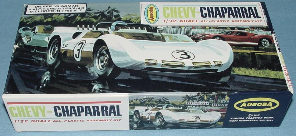 Aurora 1:32 Chevy Chaparral Slot Car Racing Body Model Kit Box
