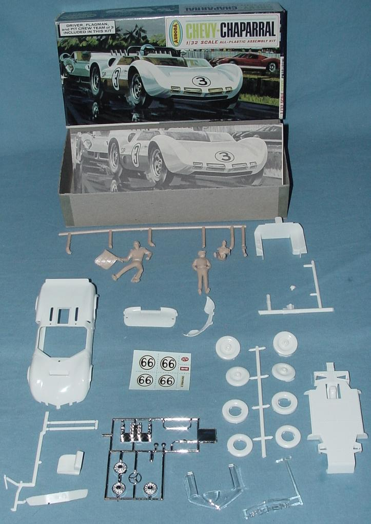 Aurora 1:32 Chevy Chaparral Slot Car Racing Body Model Kit Contents