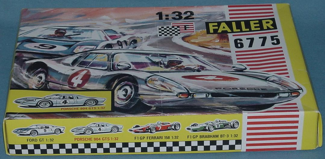 Faller 1/32 Scale Porsche 904 GTS Slot Car Club Racing Kit 6775 Box Lid