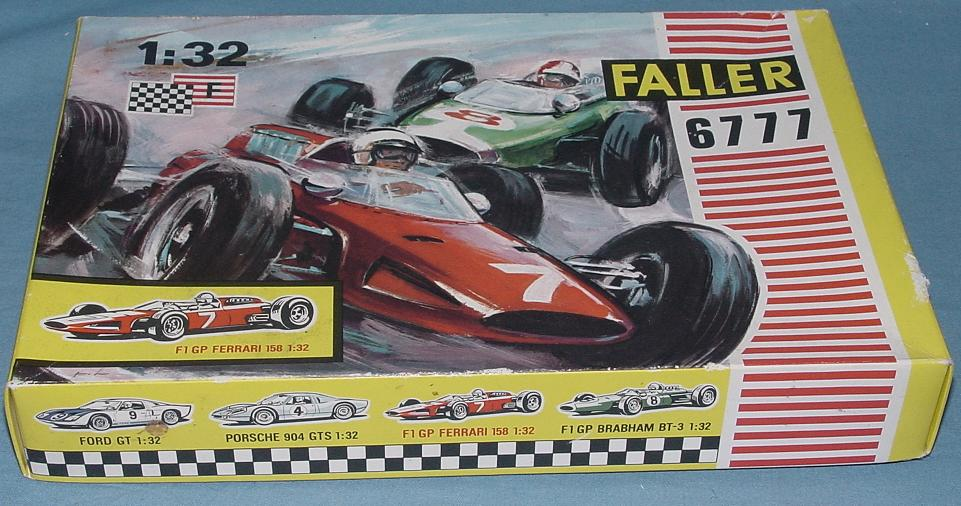 Faller 1:32 Scale Ferrari F1 GP Slot Car Club Racing Kit 6777 Box Lid