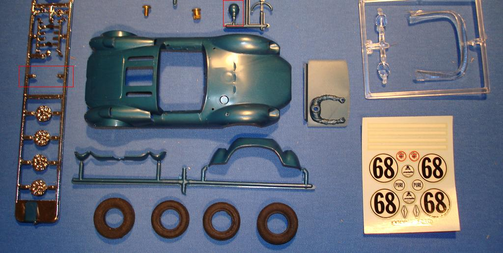 Monogram Cooper Ford Slot Car Body