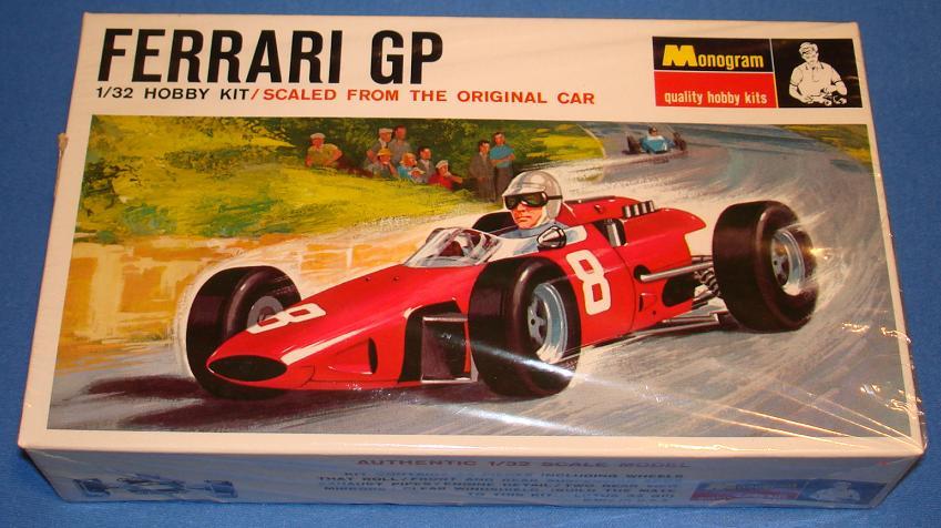 Monogram 1 32 Scale Slot Car Model Kit Ferrari Gp