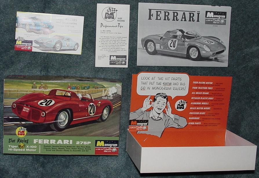 Monogram Ferrari 275P Slot Car Contents Instructions Performance Tips Counter Display Box