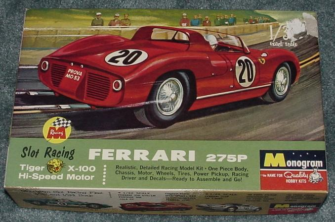 Monogram Ferrari 275P Slot Car Racing Box Lid