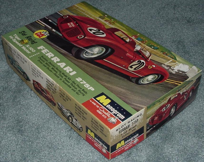 Monogram Ferrari 275P Slot Car Racing Box Right End Panel