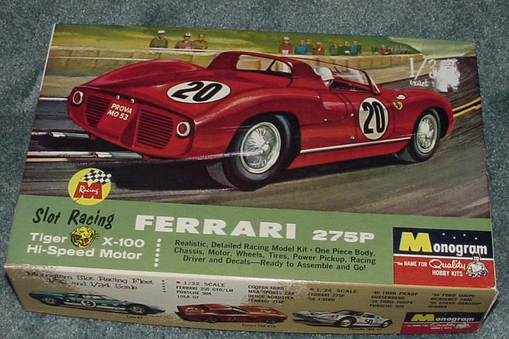 Monogram Ferrari Slot Car Box