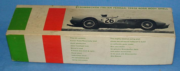 Strombecker 1:32 Ferrari Testa Rosa Slot Car Kit Box