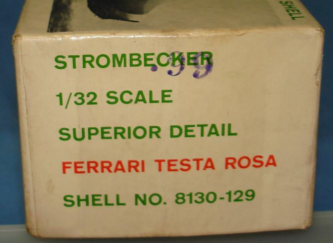 Strombecker 1:32 Ferrari Testa Rosa Slot Car Kit Contents
