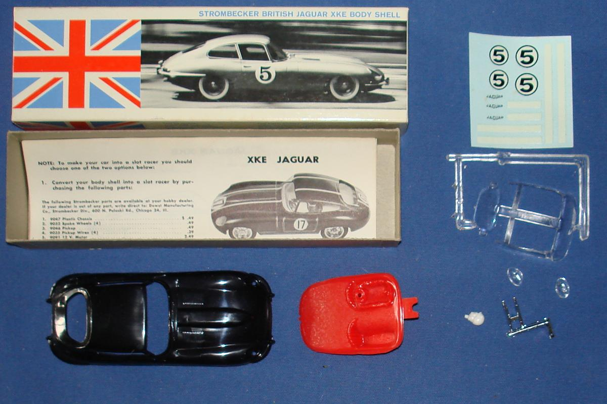 Vintage 1:32 Scale Strombecker Slot Car Racing British Jaguar XKE Body Shell Kit 8120