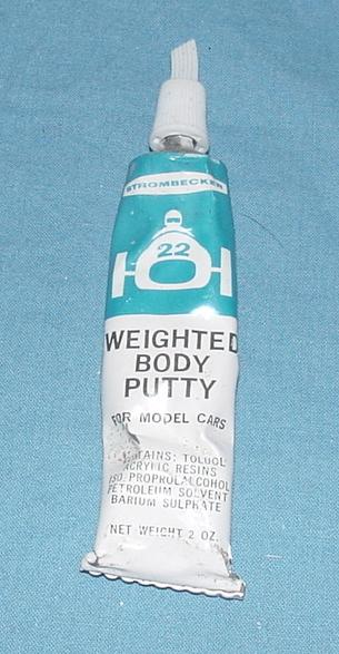 Strombecker Slotcar Racing Weighted Body Putty Tube