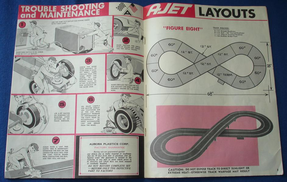 Aurora AJET 16 Page Slot Car Racing Manual