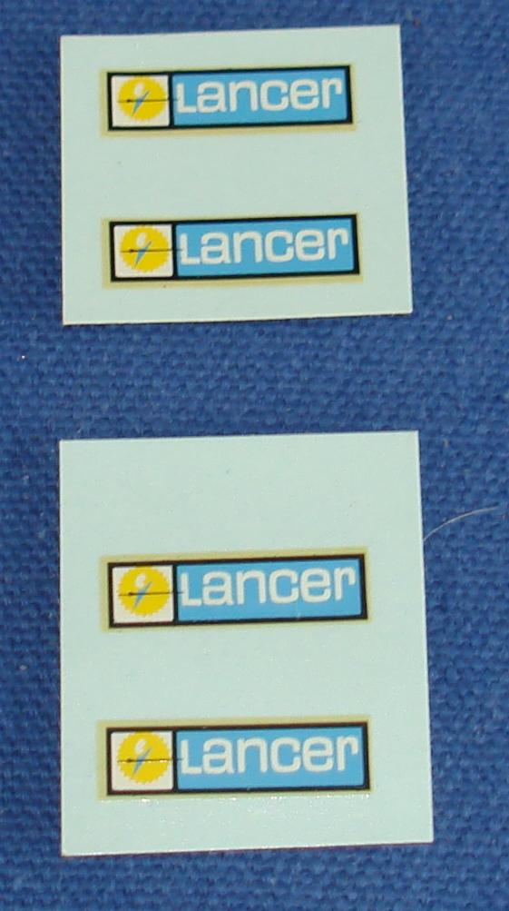 Lancer 1/32 Scale Slot Car Decal Sheets