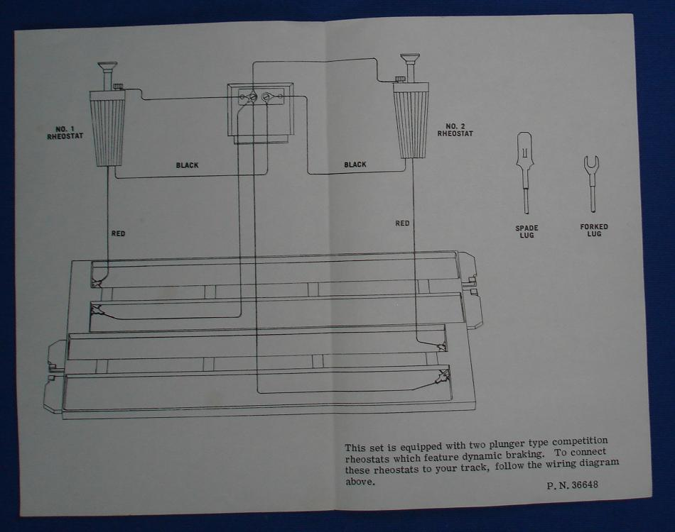 Strombecker 1/32 Electric Road Racing Slot Car Track Rheostat Wiring Instructions