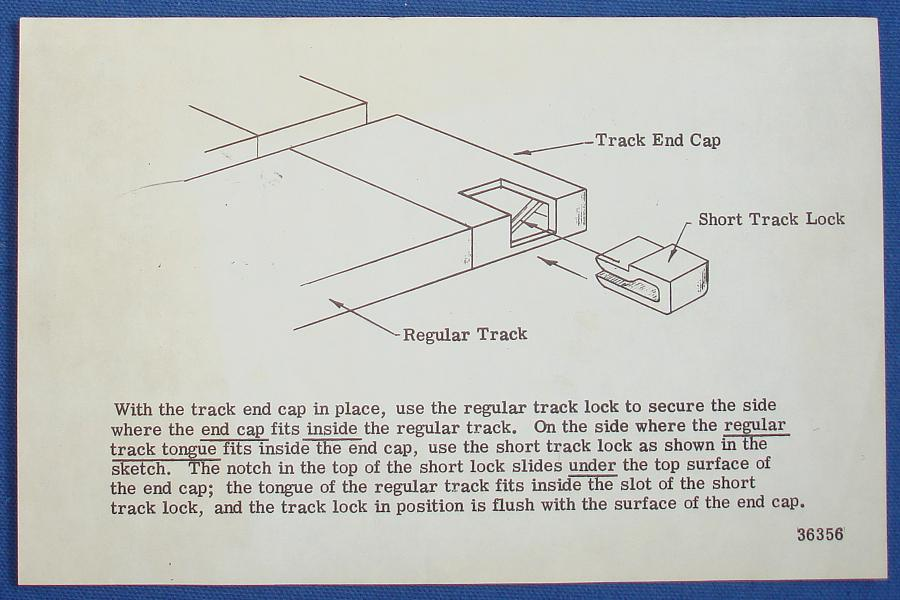 Strombecker 1/32 Electric Road Racing Slot Car Track Lock Instructions