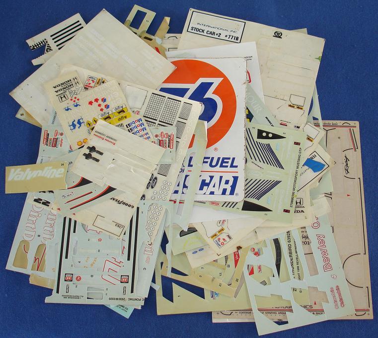 124 132 187 Partial Slot Car Decal Sheets