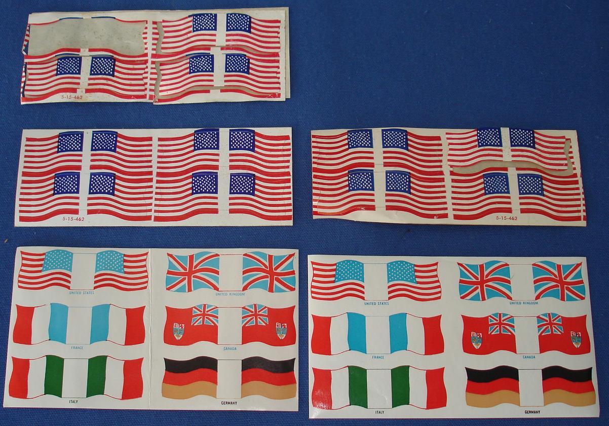 Unknown Vintage 1/32 Scale Slot Car Flag Sticker Sheets