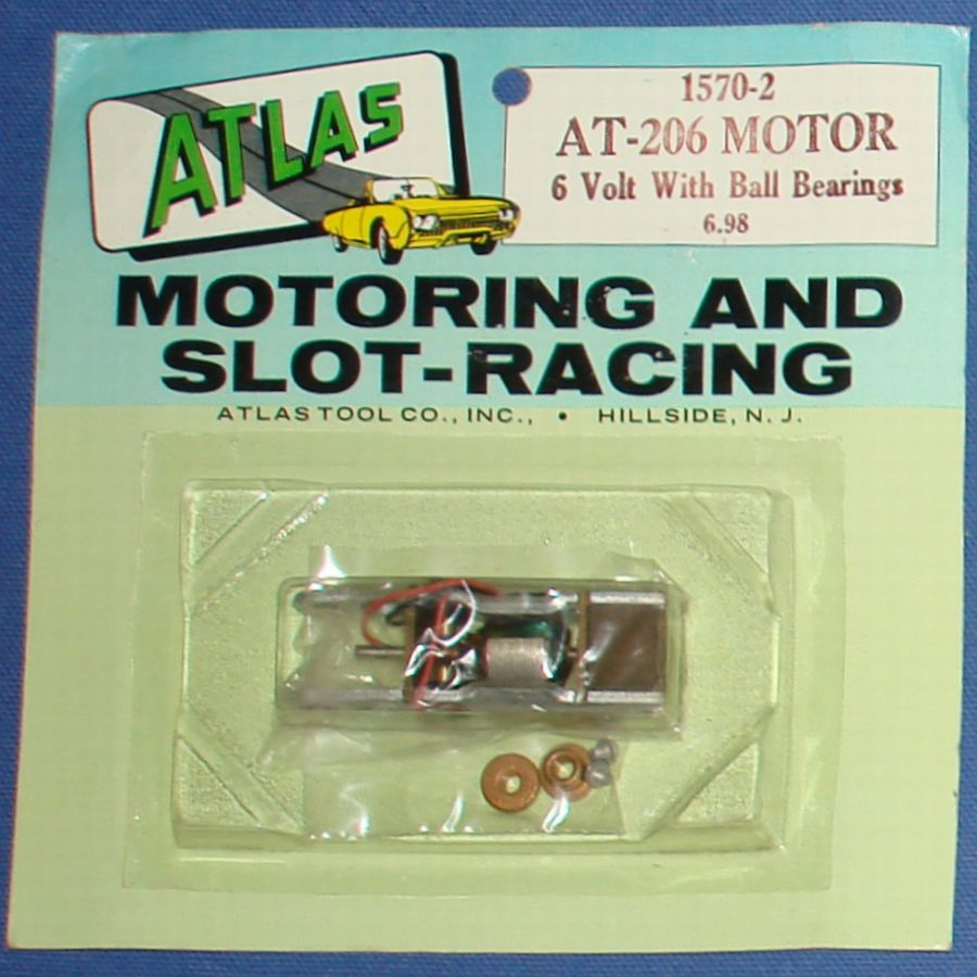 Atlas Slot Car Home Racing Parts #1570-2 AT-206 6V Ball Bearing Chassis Motor