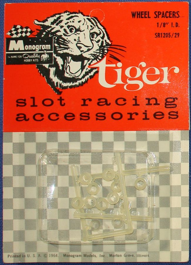 MONOGRAM 1:32 MONOGRAM TIGER MODEL SLOT CAR RACING ACCESSORIES WHEEL SPACERS SR1205