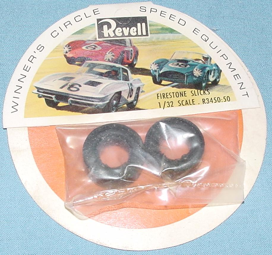 Revell slot car racing Firestone slick tires R3450