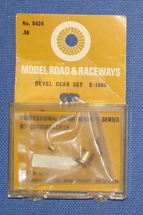 Vintage 1:32 Scale Strombecker Slot Car Racing Brass Bevel Gear Set