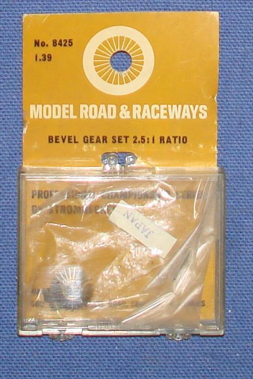 Vintage 1:32 Scale Strombecker Slot Car Racing Brass Bevel Gear Set 2:5:1 Ratio