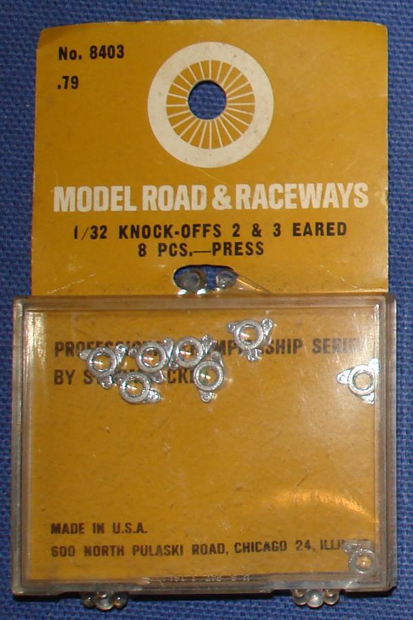 Strombecker 1/32 Electric Road Racing SlotCar 2 & 3 Eared Knock Offs