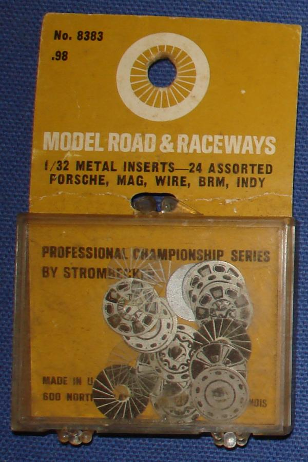 Strombecker 1/32 Electric Road Racing Slot Car Metal Wheel Inserts
