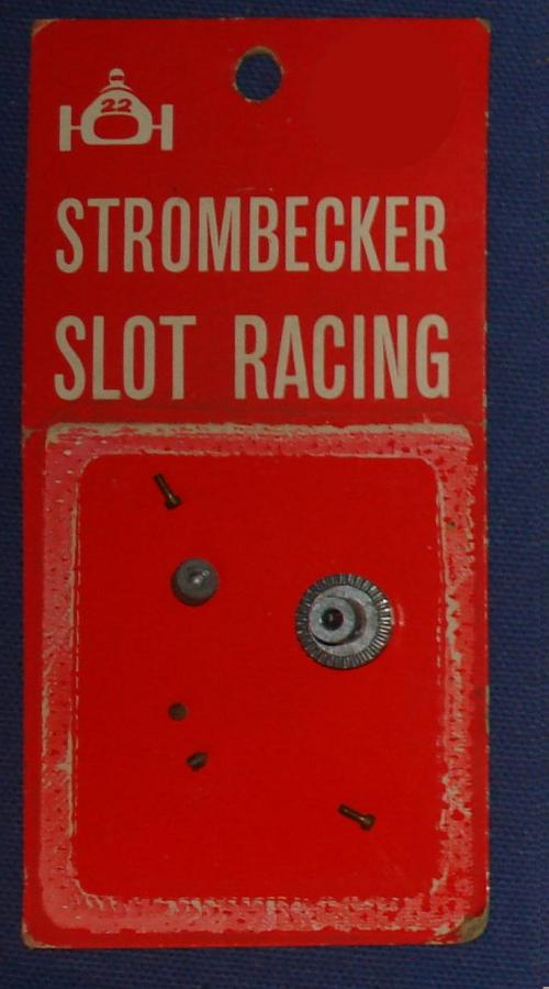 Strombecker 1/32 Electric Road Racing Slot Car Parts Bevel Crown Gear & Pinion