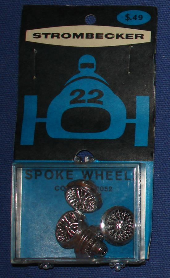 Strombecker 1:32 Electric Road Racing Slot Car Chrome Spoke Wheels