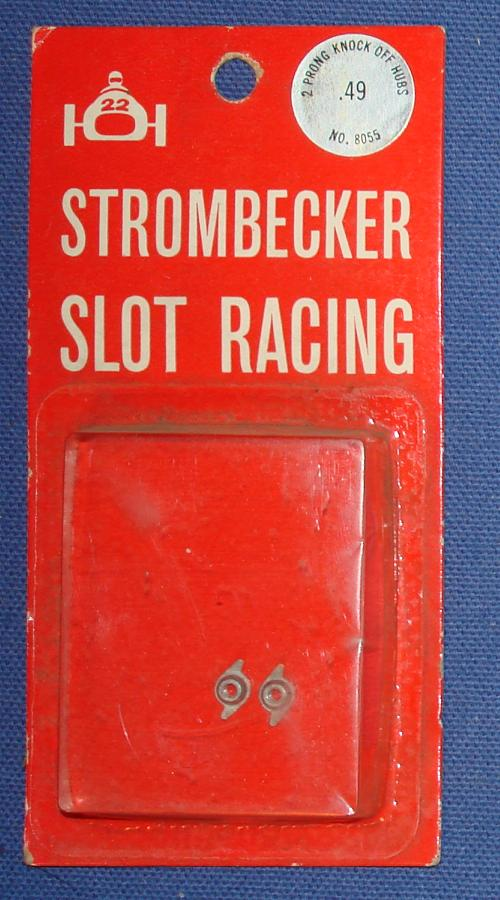 Strombecker 1/32 Electric Road Racing Slot Car Parts Two Prong Knock Off Hubs