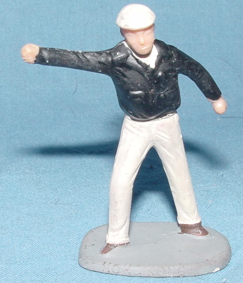 Eldon Slot Car Scenery Hand Painted Flagman