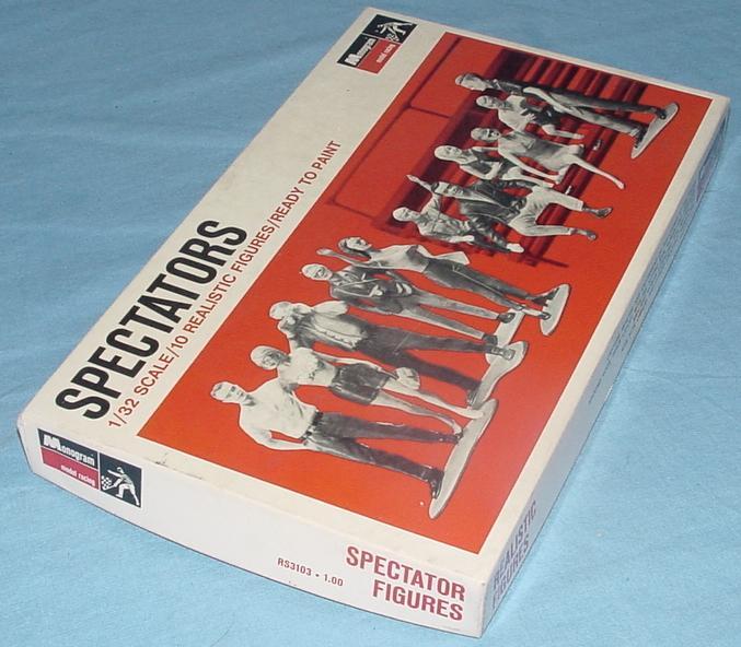 Monogram 1:32 Slot Car Racing SPECTATORS Model Figure Kit Box