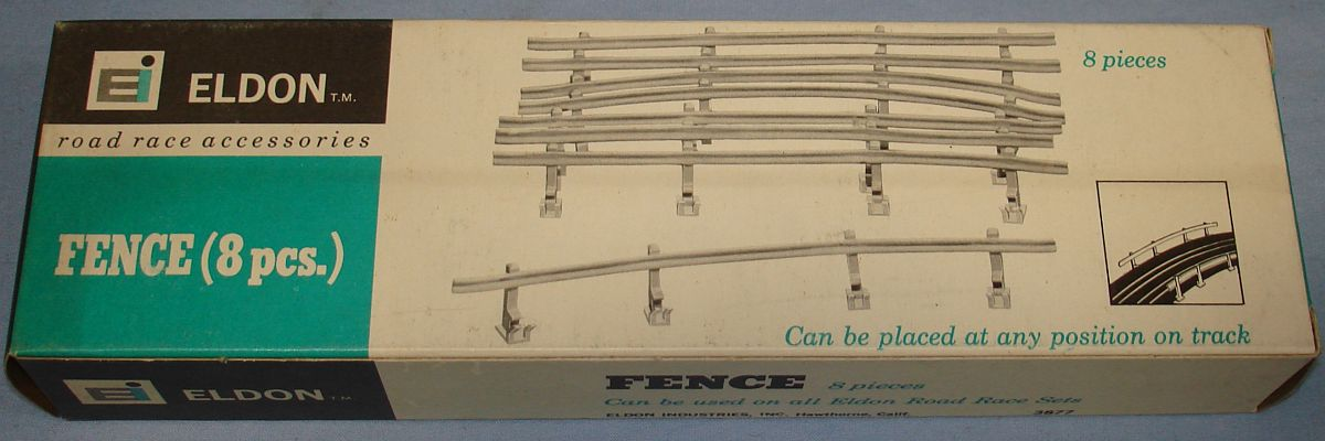 Eldon 1:32 Road Race Accessories Slot Car Racing Track White Fence #3877