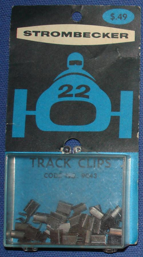 Strombecker 1/32 Electric Road Racing Slot Car Metal Track Clips